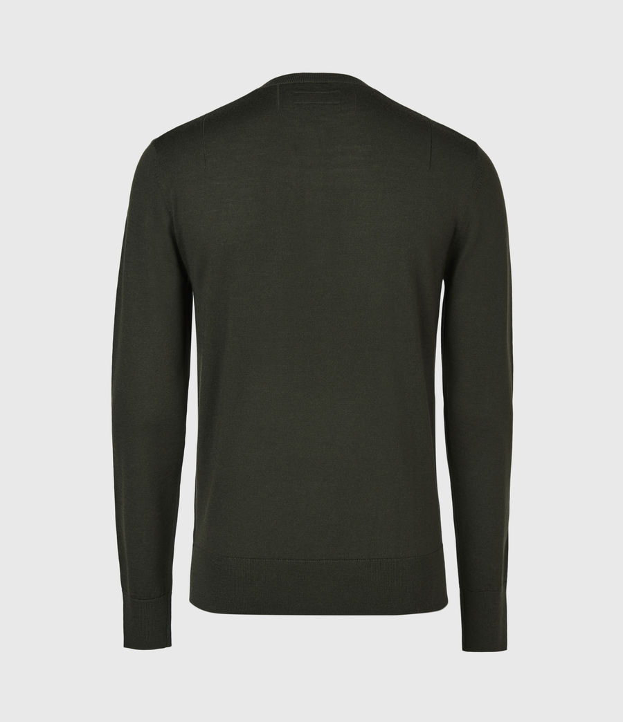 Herren Mode Merino Henley Langarmshirt (moss_green) - Image 3