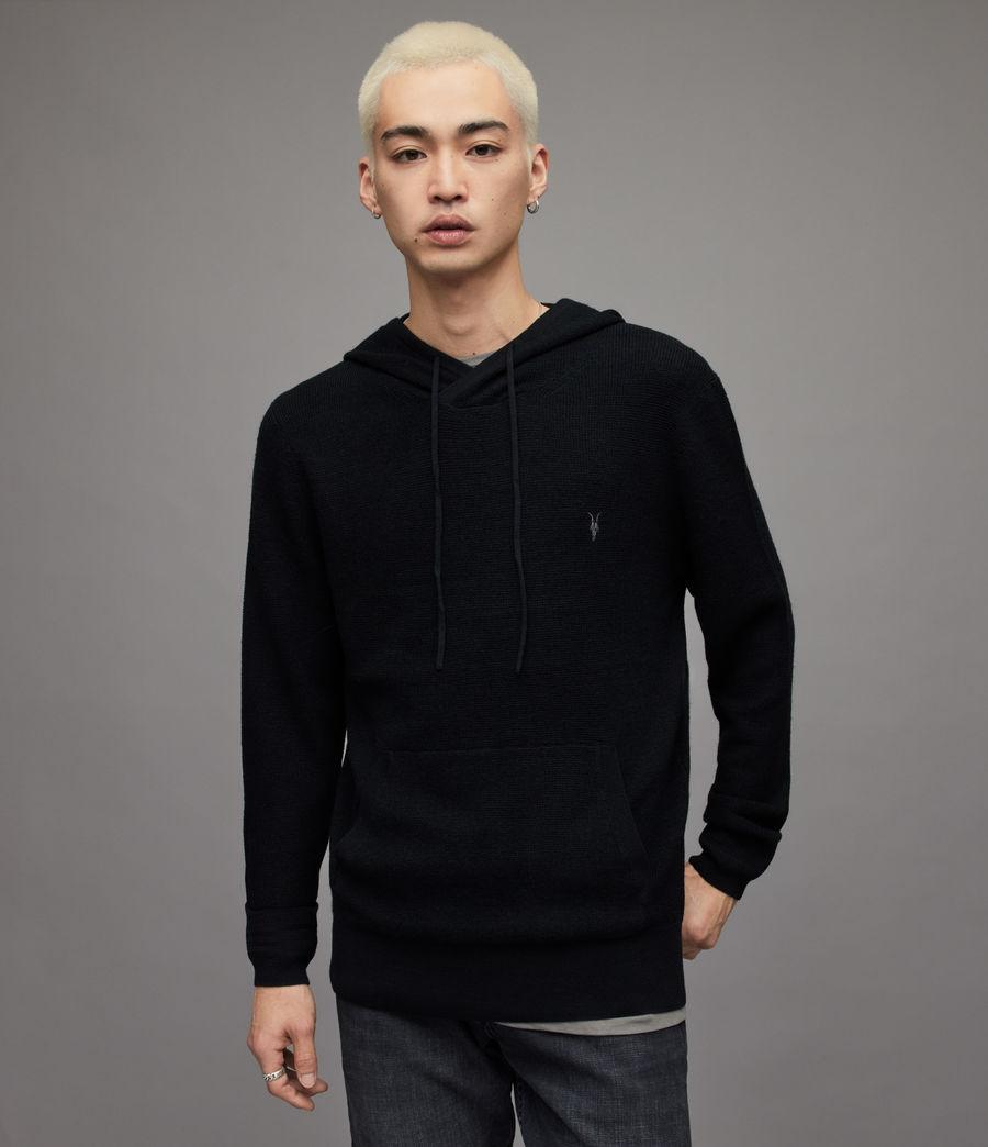 Men's Ivar Merino Hoodie (black) - Image 1