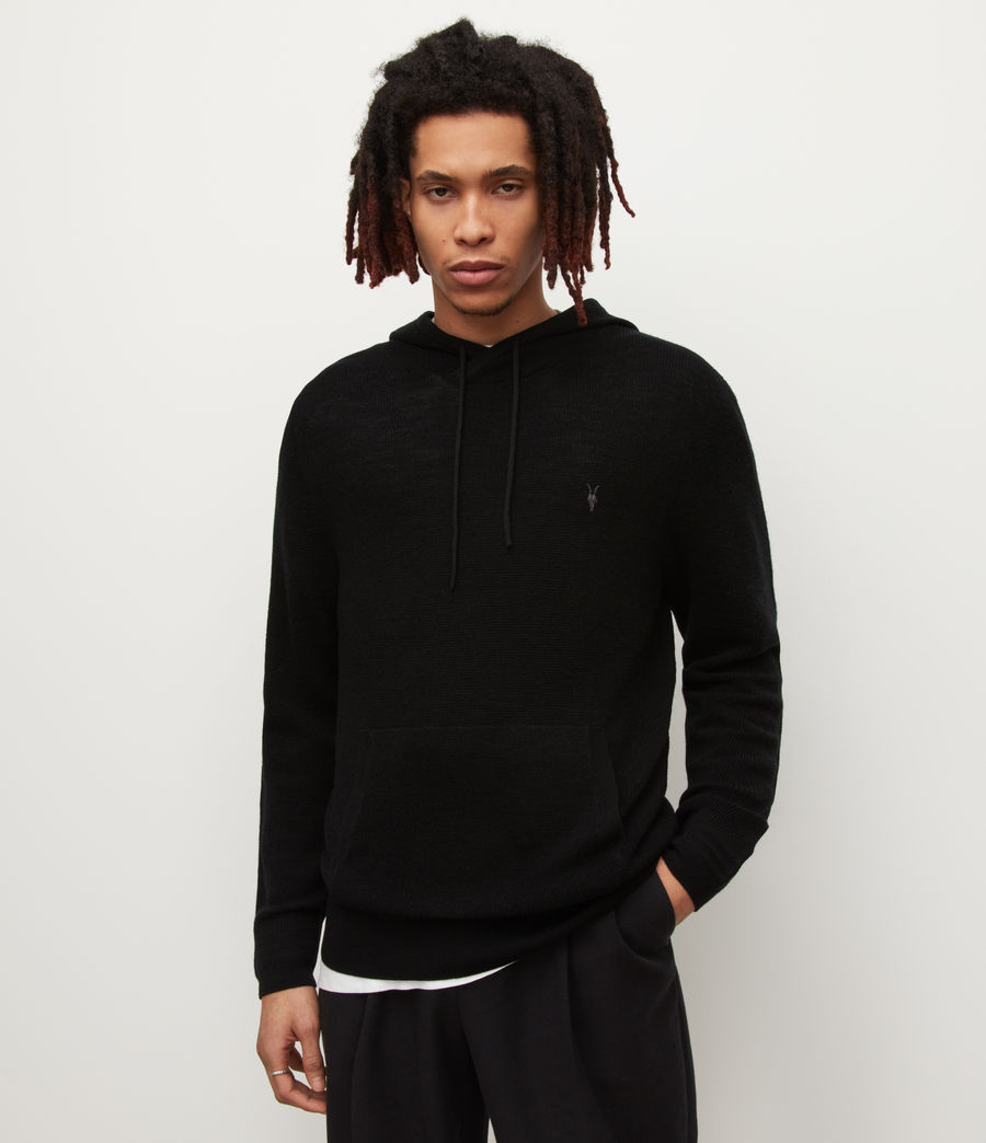 Uomo Ivar Merino Hoodie (black) - Image 1