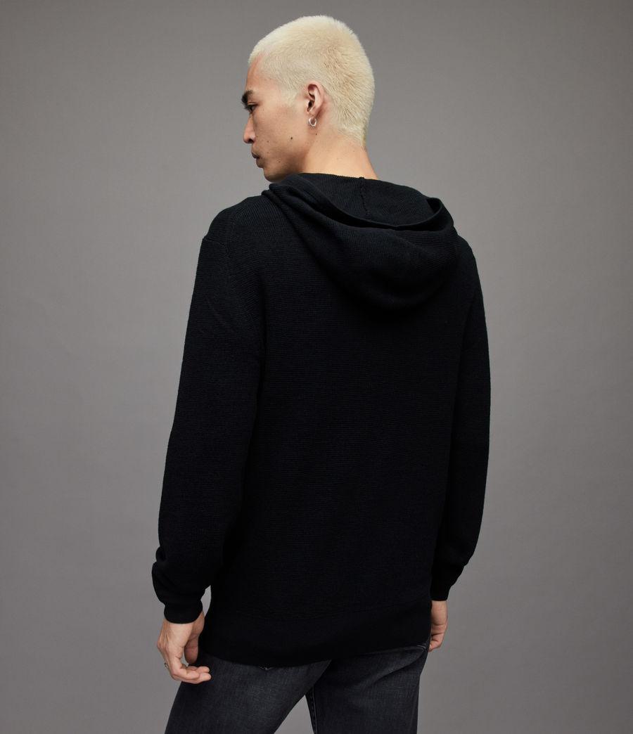 Men's Ivar Merino Hoodie (black) - Image 4