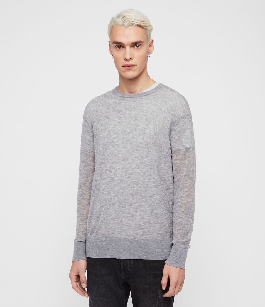 Men's Rekk Crew Jumper (grey_marl) - Image 1