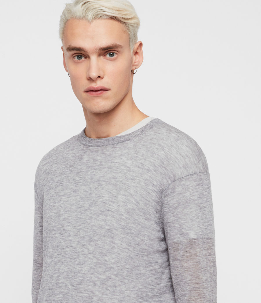 Men's Rekk Crew Jumper (grey_marl) - Image 2