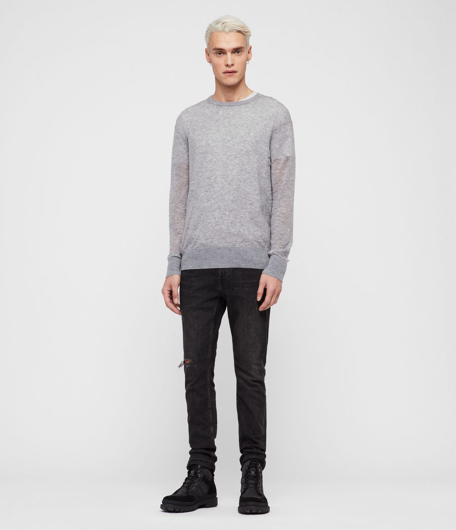 Men's Rekk Crew Jumper (grey_marl) - Image 3