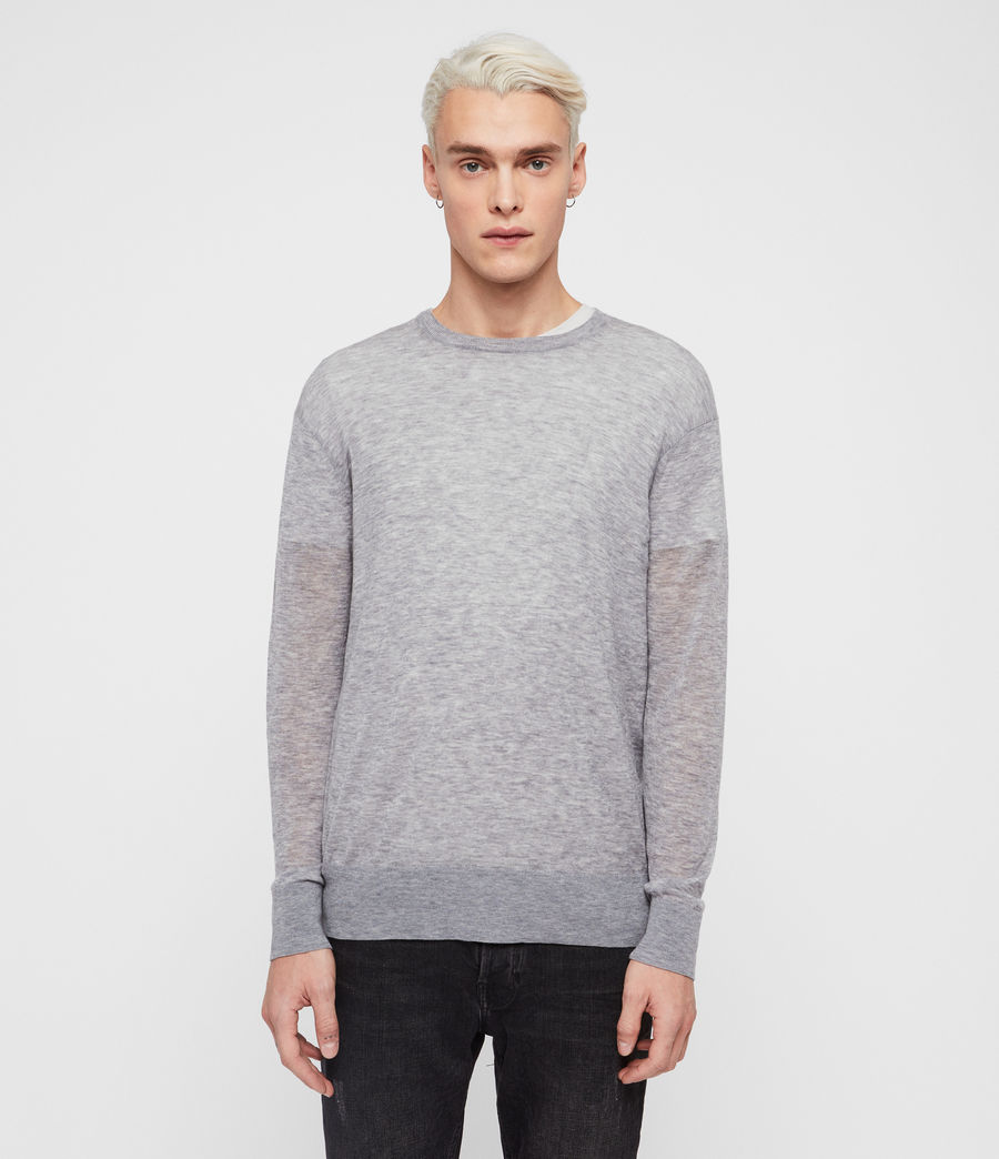 Men's Rekk Crew Jumper (grey_marl) - Image 4