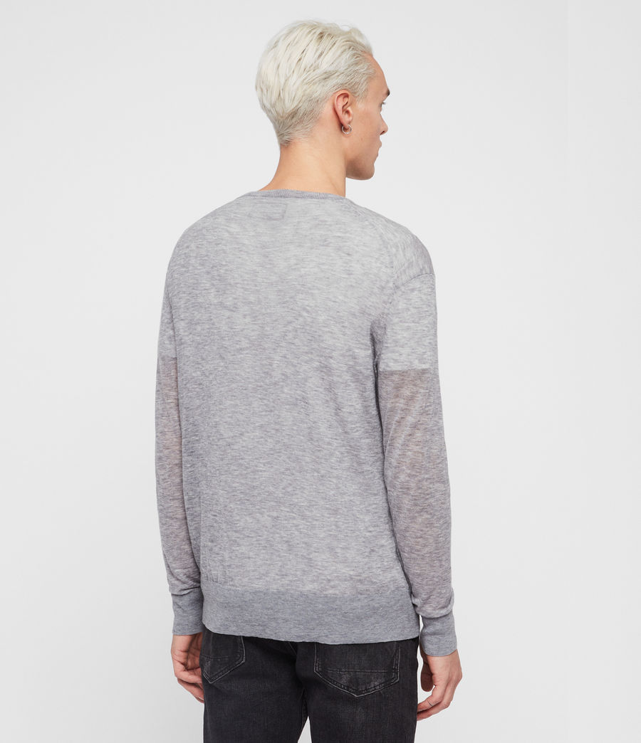Men's Rekk Crew Jumper (grey_marl) - Image 5