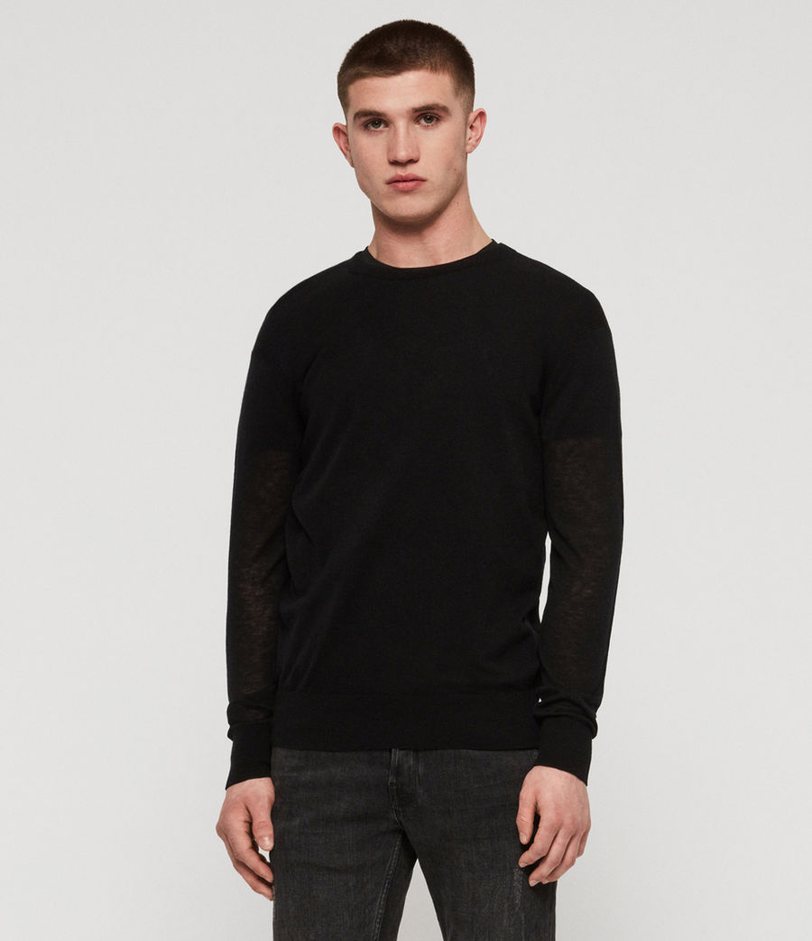 Men's Rekk Crew Jumper (black) - Image 1
