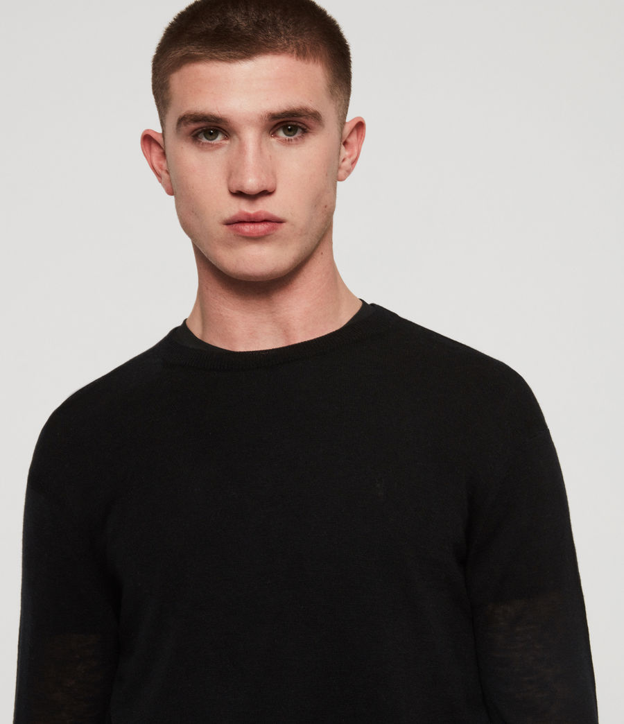 Men's Rekk Crew Jumper (black) - Image 2