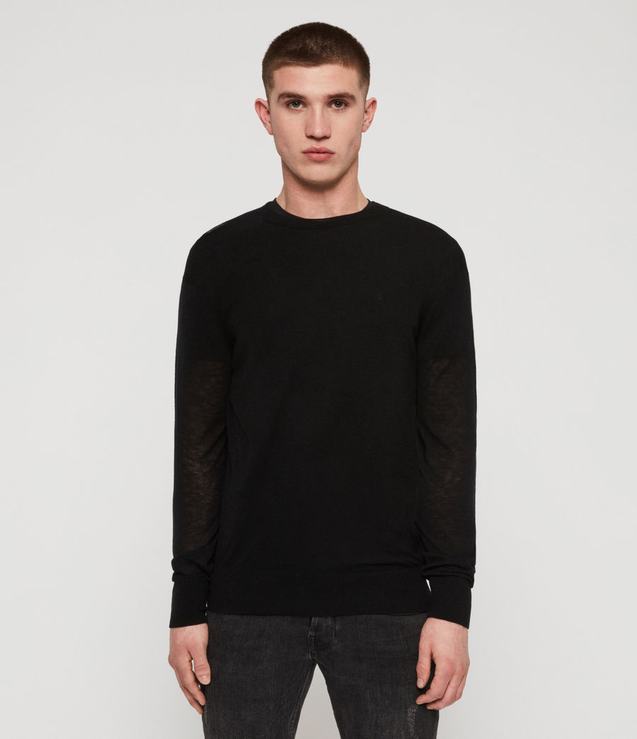 Men's Rekk Crew Jumper (black) - Image 3