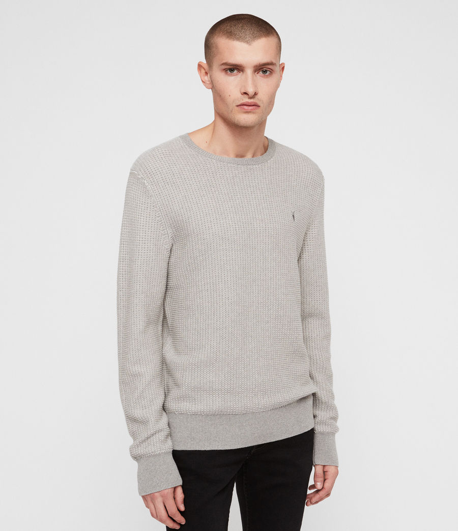 Mens Charter Crew Sweater (stone_grey) - Image 1