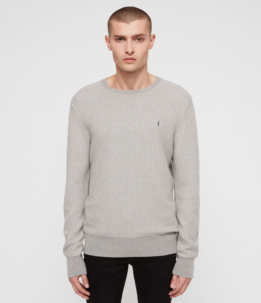 Mens Charter Crew Sweater (stone_grey) - Image 4