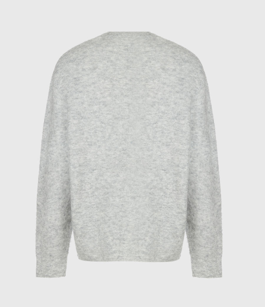 Hombre Heart Crew Sweater (light_grey_marl) - Image 3