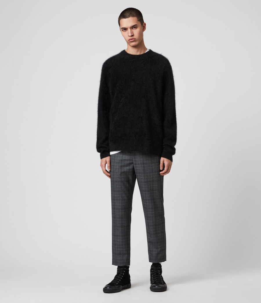 Mens Wulf Cashmere Crew Sweater (black) - Image 3