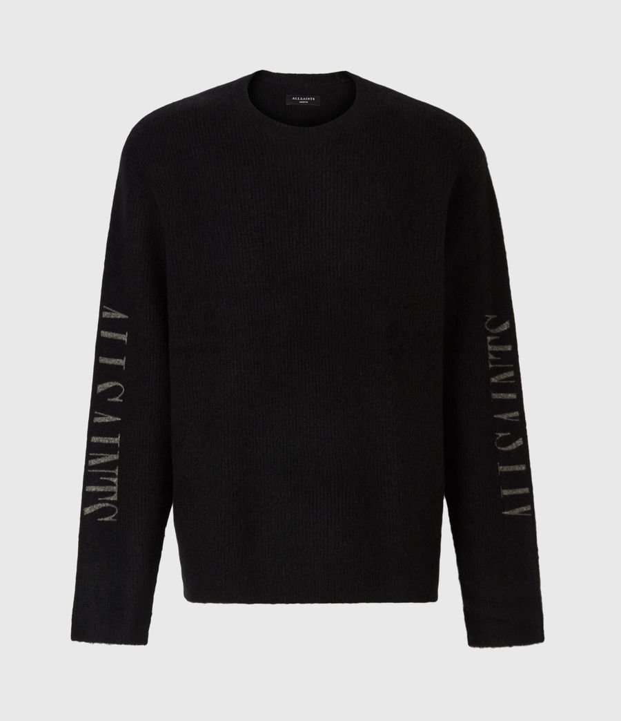 Men's Rift Saints Crew Jumper (black) - Image 2