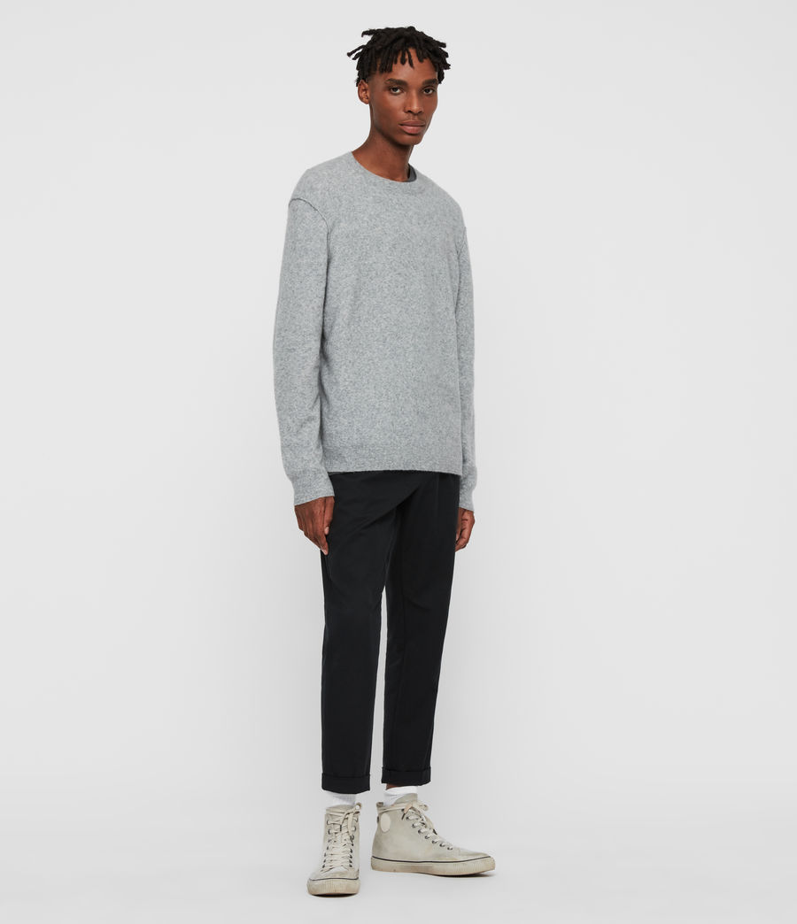 Men's Austell Crew Cashmere Blend Jumper (grey_marl) - Image 3