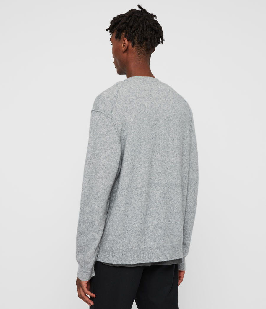 Men's Austell Crew Cashmere Blend Jumper (grey_marl) - Image 5