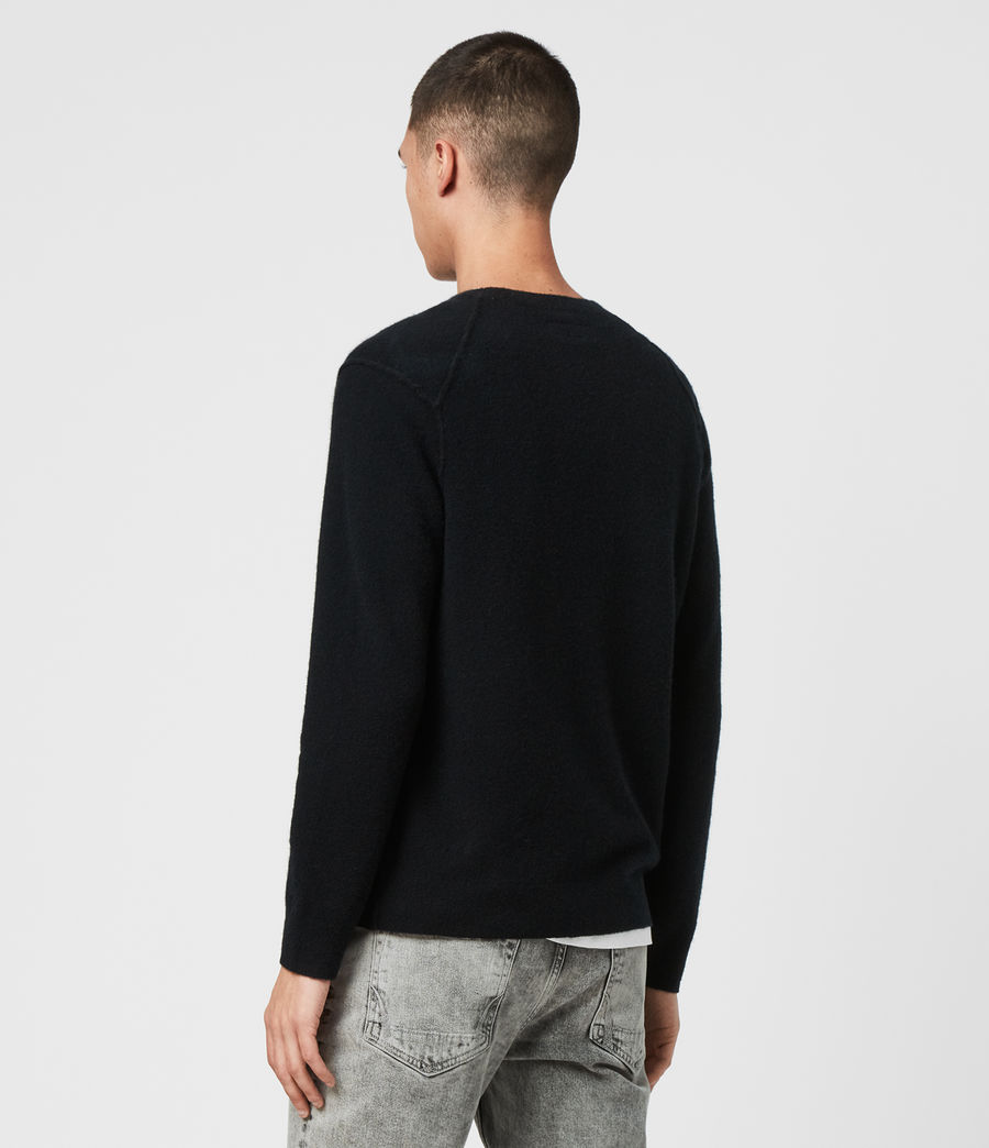 Mens Austell Crew Cashmere Blend Sweater (black) - Image 5