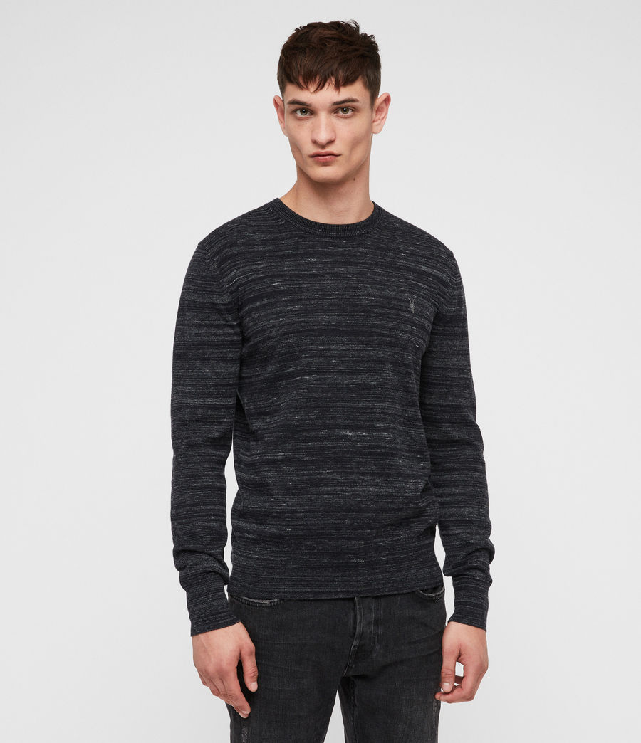 Mens Marlo Crew Sweater (ink_navy_marl) - Image 1