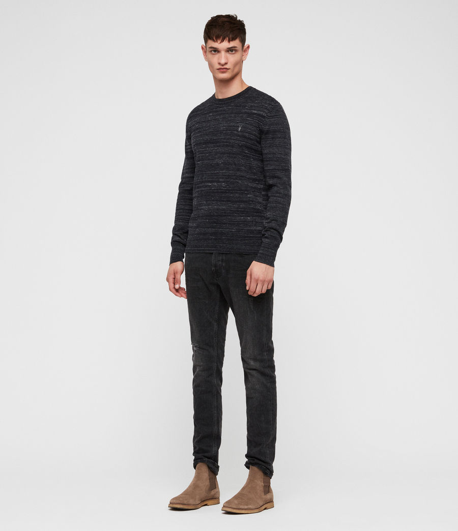 Mens Marlo Crew Sweater (ink_navy_marl) - Image 3