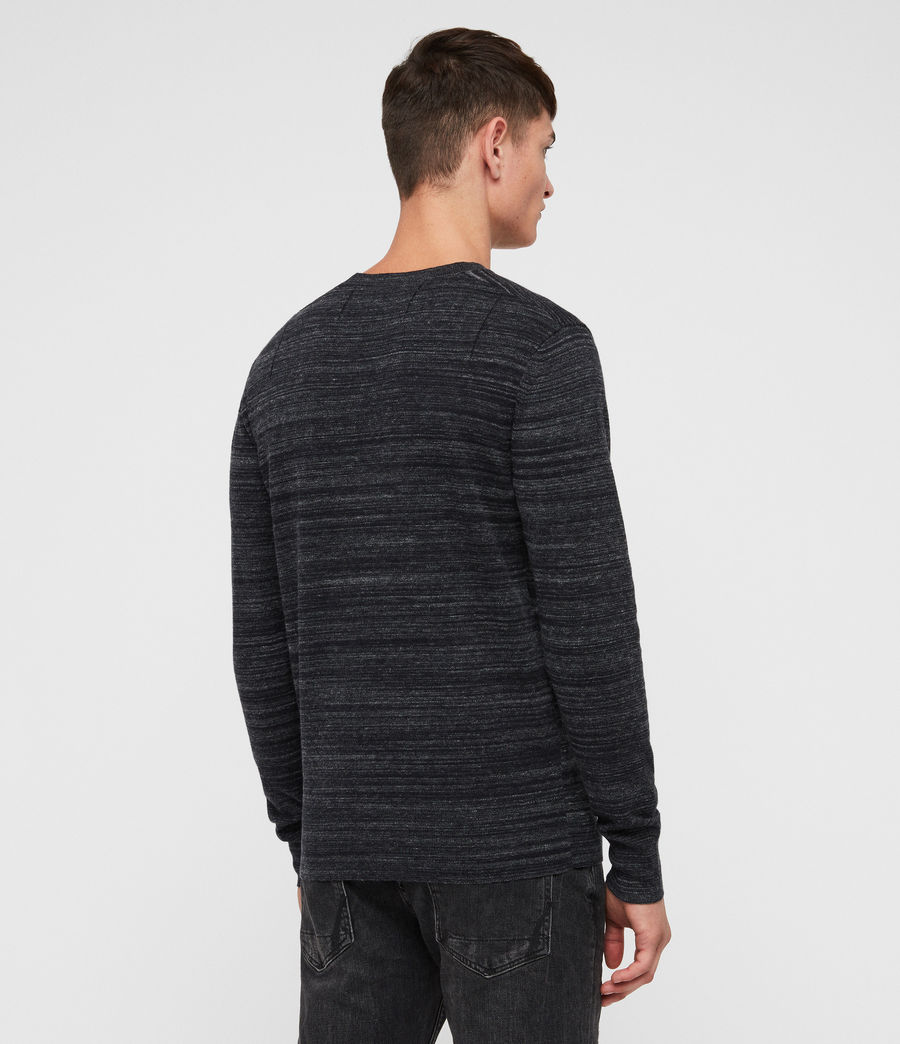 Mens Marlo Crew Sweater (ink_navy_marl) - Image 4