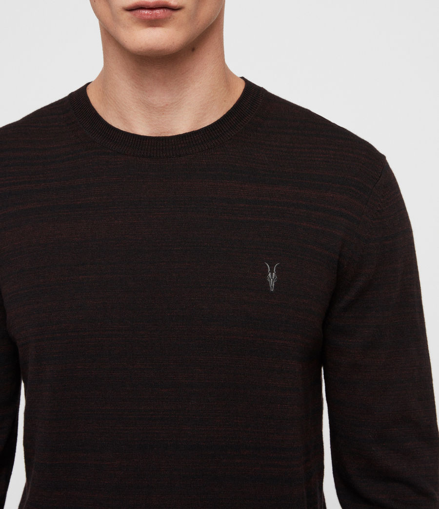 Men's Marlo Crew Jumper (dark_rust_red_marl) - Image 2