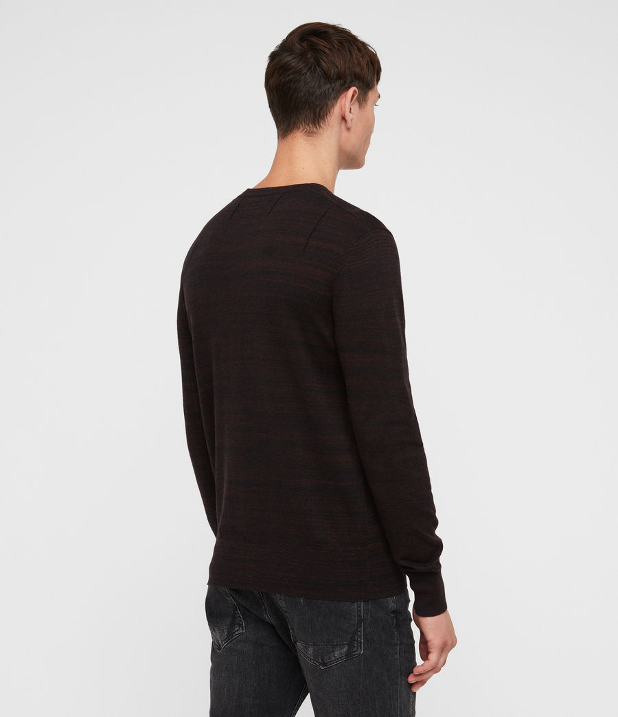 Men's Marlo Crew Jumper (dark_rust_red_marl) - Image 5