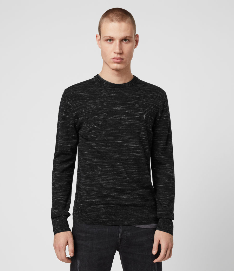 Mens Nep Merino Crew Sweater (black_marl) - Image 1