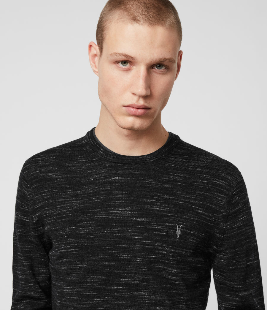 Mens Nep Merino Crew Sweater (black_marl) - Image 2