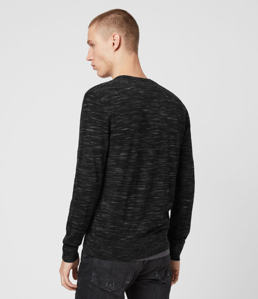 Mens Nep Merino Crew Sweater (black_marl) - Image 5