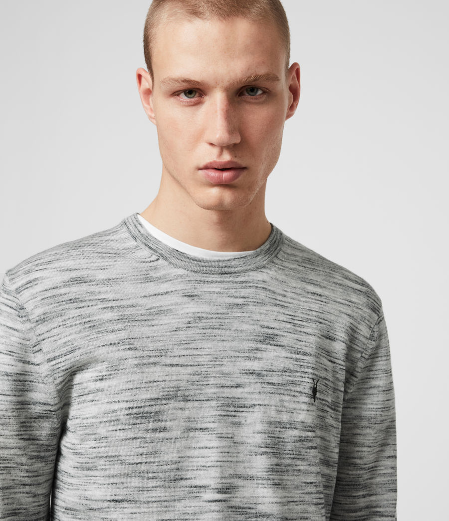 Men's Nep Merino Crew Jumper (tin_grey_marl) - Image 1