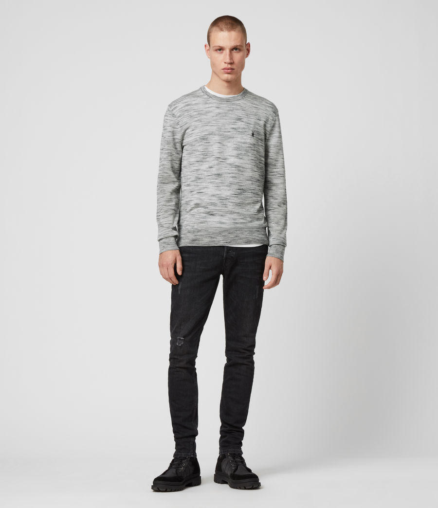 Men's Nep Merino Crew Jumper (tin_grey_marl) - Image 2