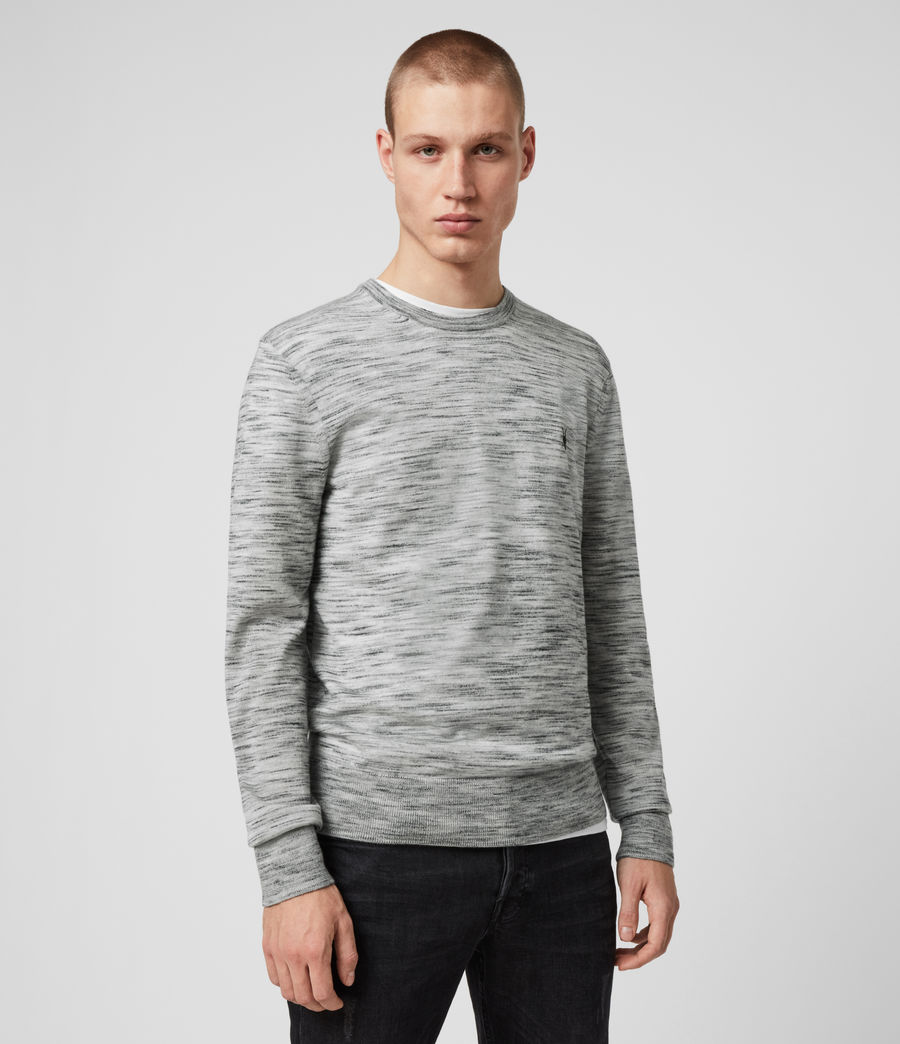 Men's Nep Merino Crew Jumper (tin_grey_marl) - Image 3