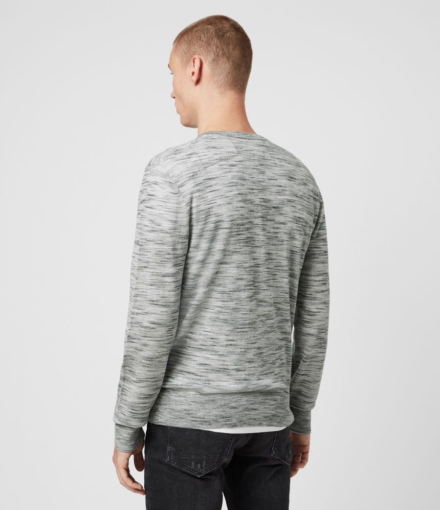 Men's Nep Merino Crew Jumper (tin_grey_marl) - Image 4