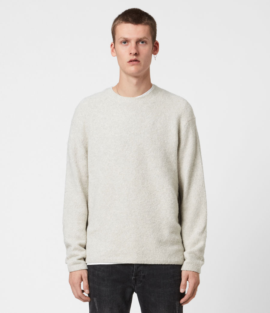 Mens Eamont Crew Sweater (ecru) - Image 1