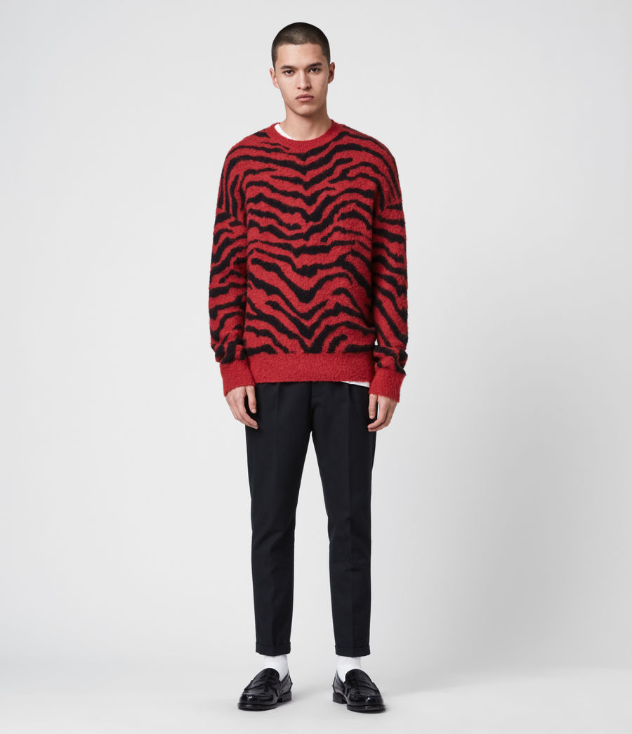 Men's Tigre Crew Jumper (crimson_red_black) - Image 4