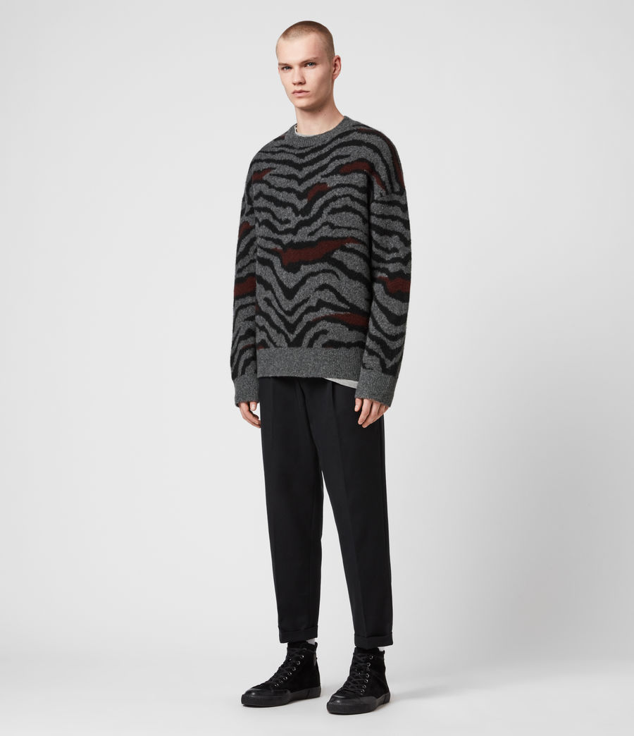 Mens Tora Crew Sweater (charcoal_black) - Image 1