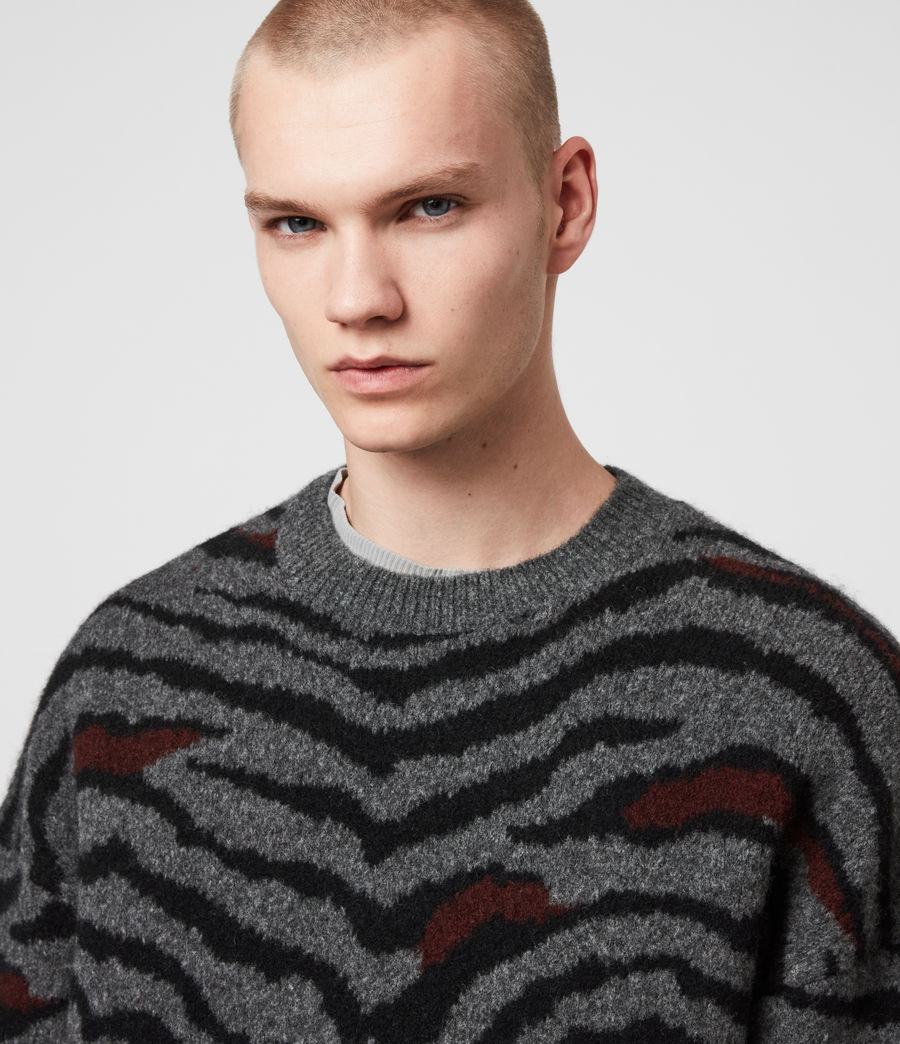Men's Tora Crew Jumper (charcoal_black) - Image 2