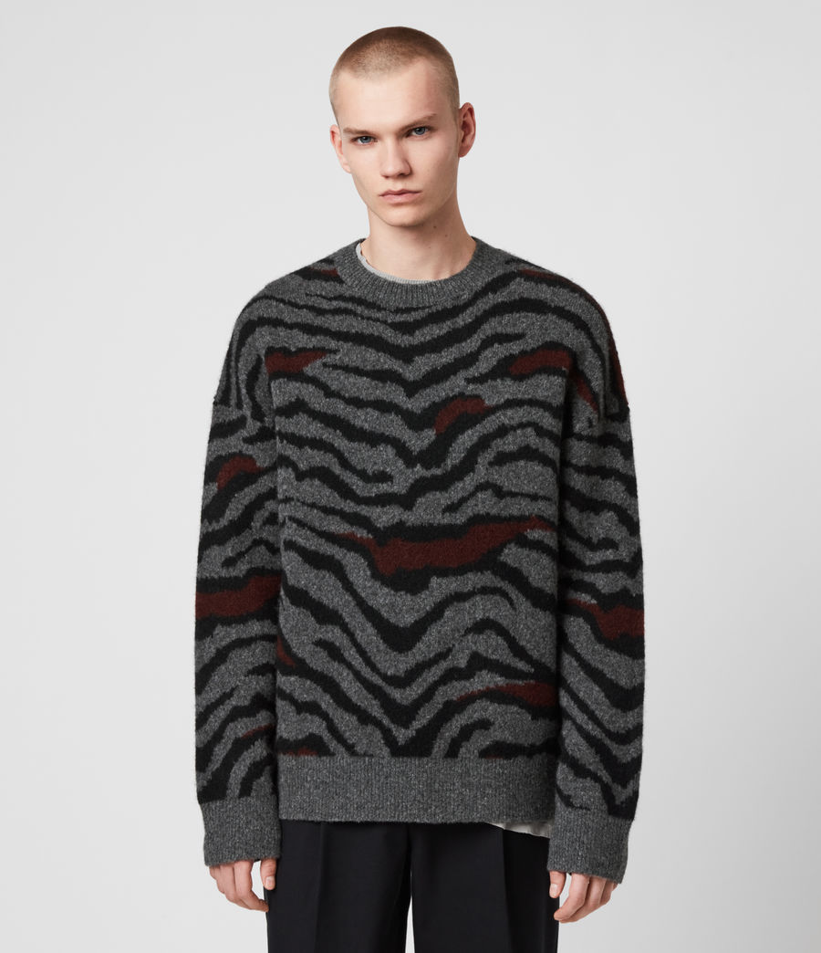 Men's Tora Crew Jumper (charcoal_black) - Image 3