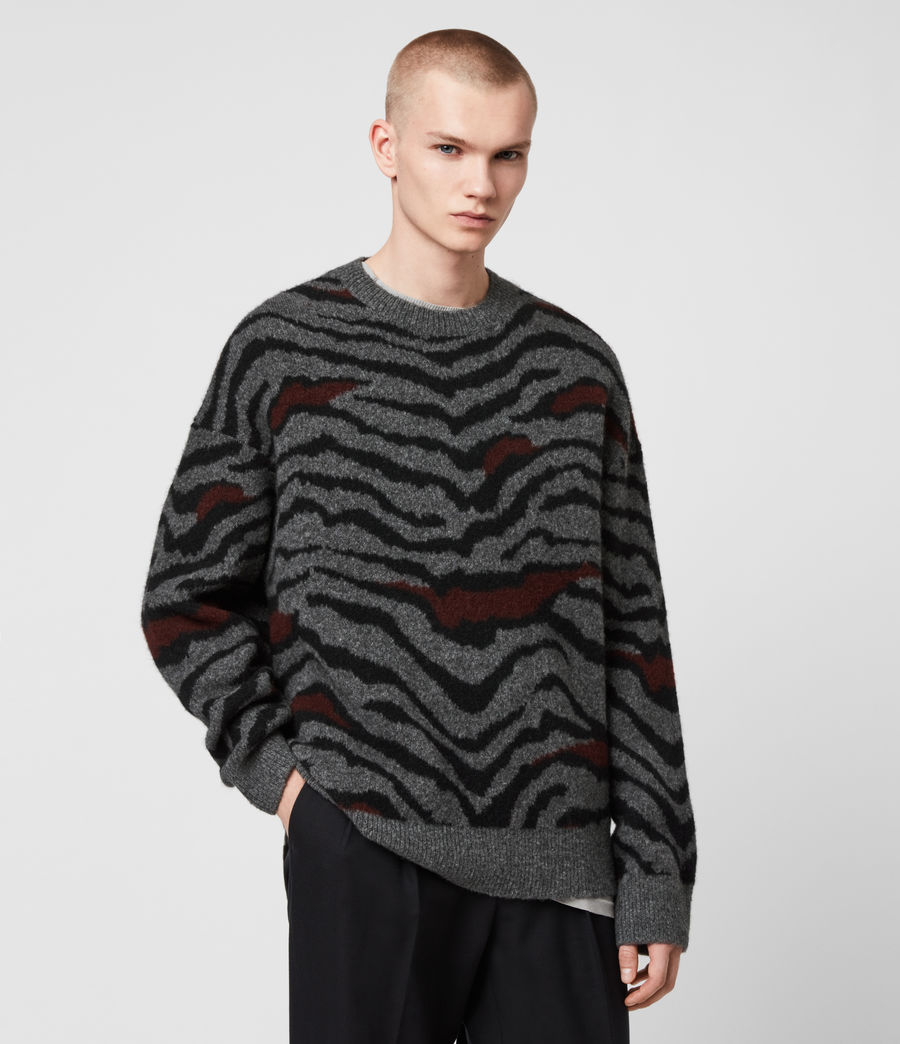Men's Tora Crew Jumper (charcoal_black) - Image 4