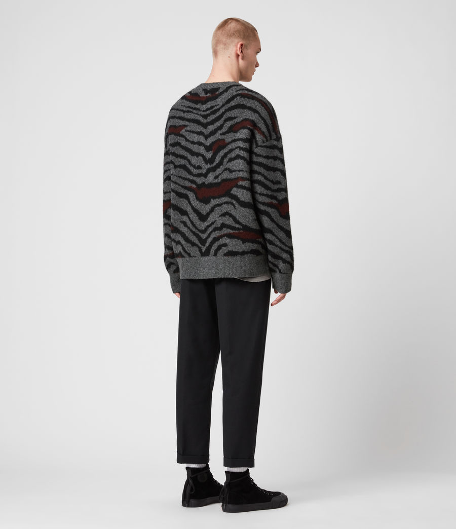 Mens Tora Crew Sweater (charcoal_black) - Image 5