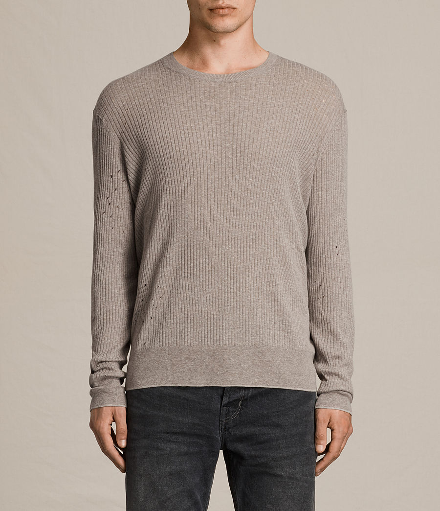 Men's Jace Crew Jumper (putty_grey_marl) - Image 1