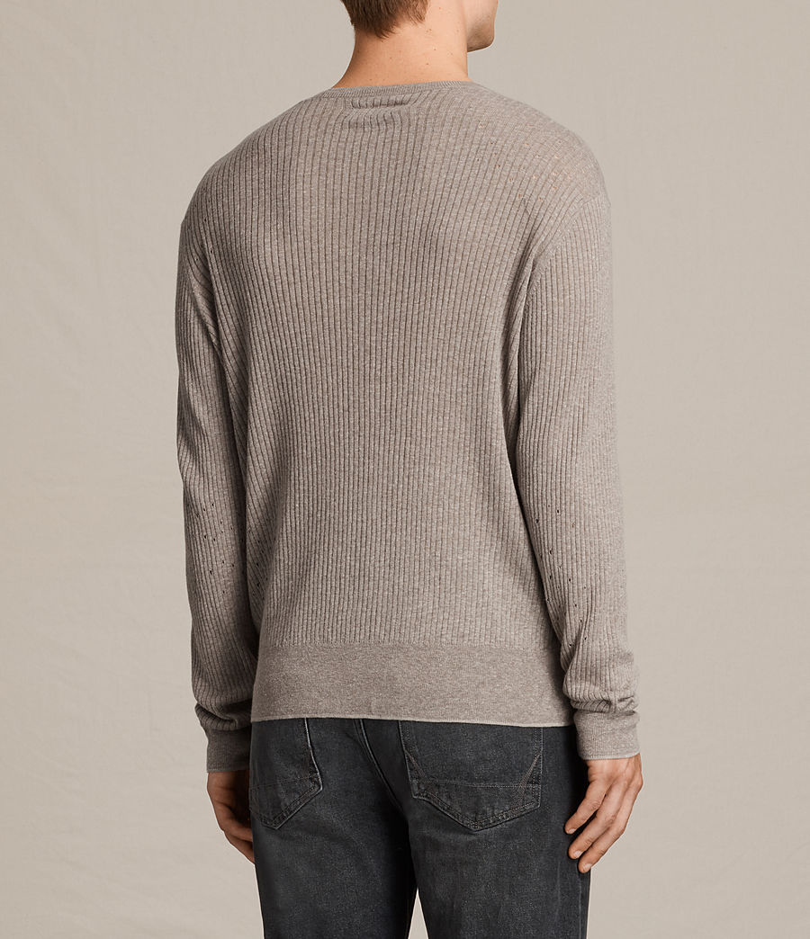 Men's Jace Crew Jumper (putty_grey_marl) - Image 4