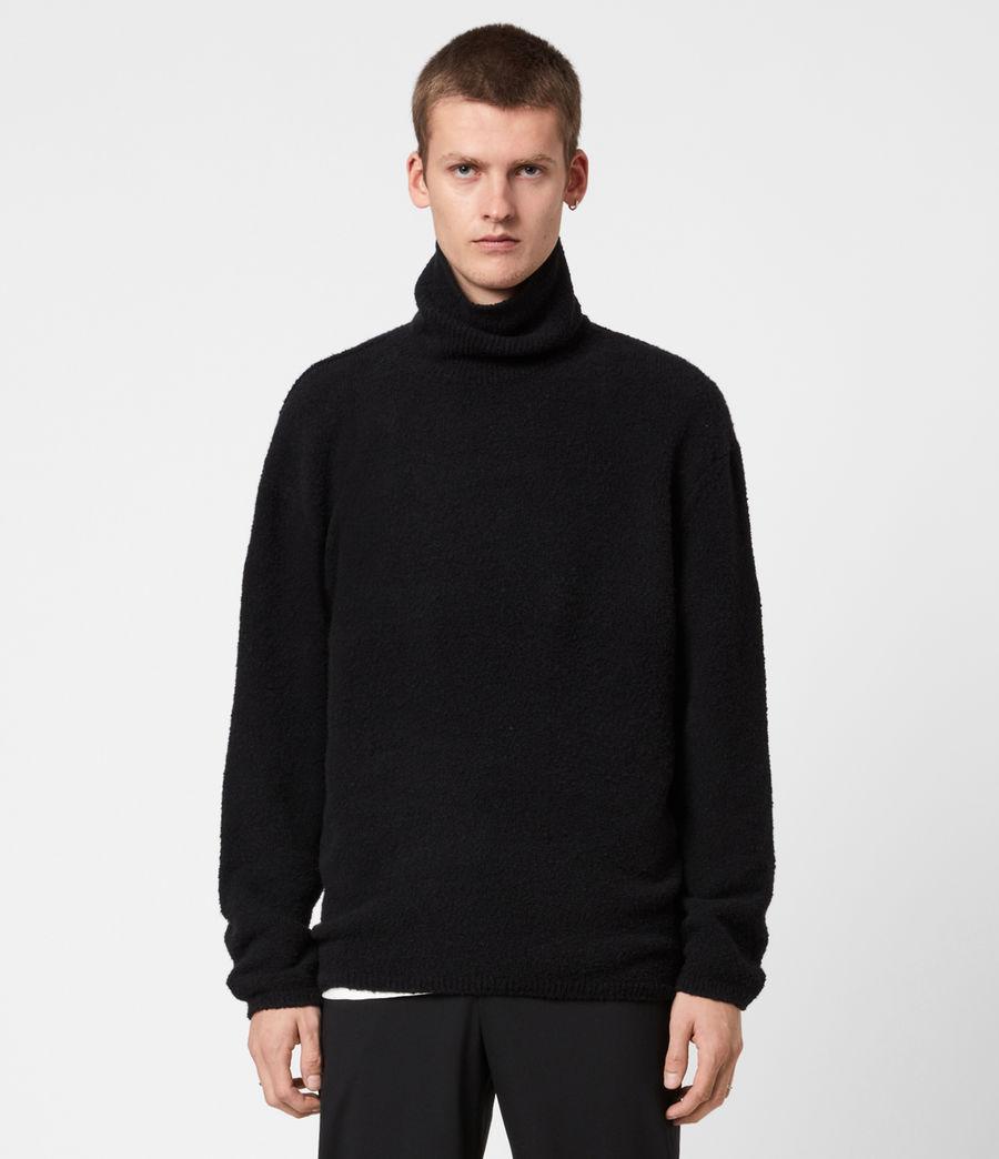 Mens Eamont Funnel Neck Sweater (black) - Image 1