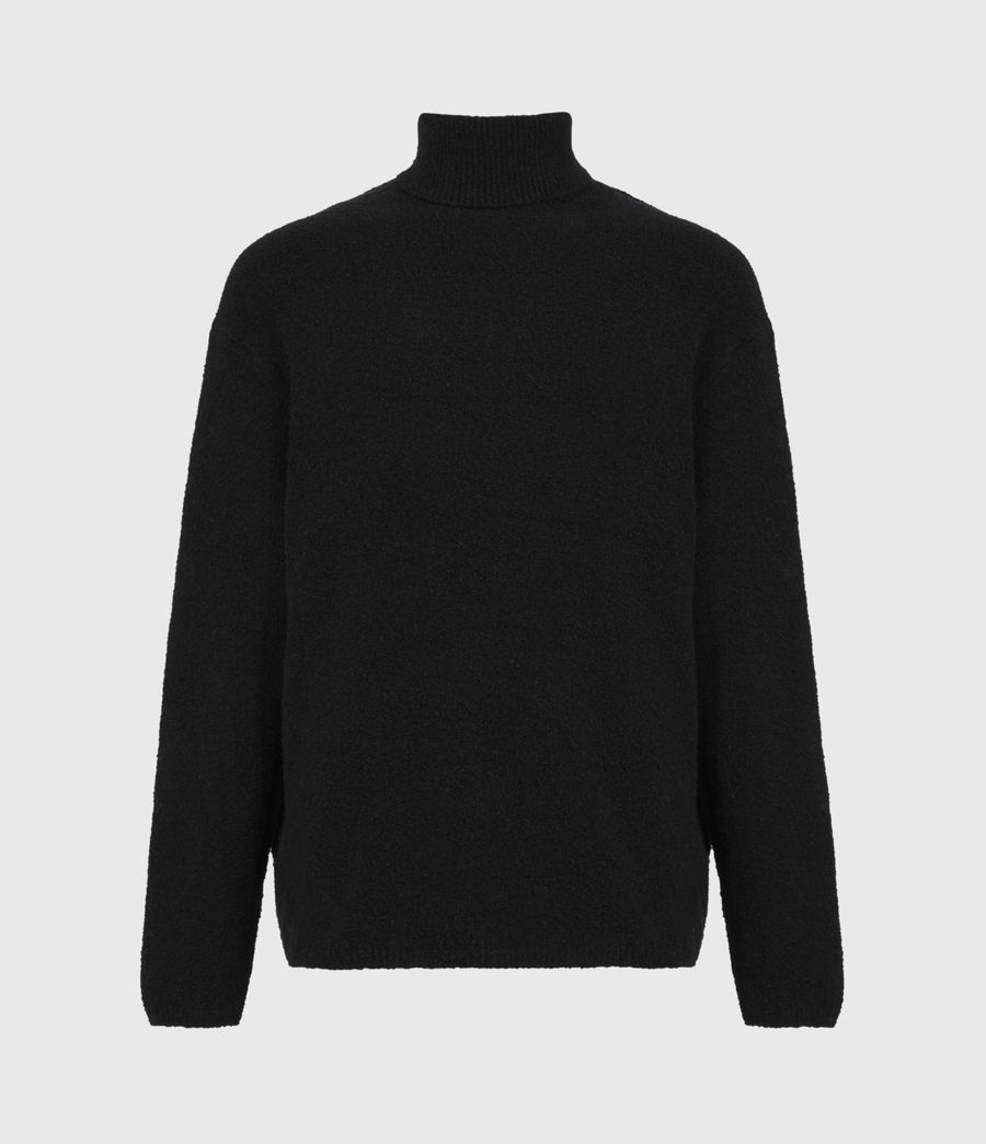 Mens Eamont Funnel Neck Sweater (black) - Image 2