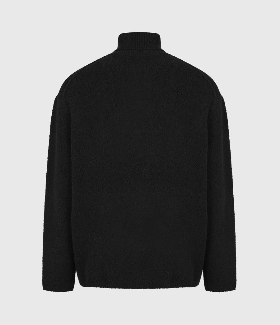 Mens Eamont Funnel Neck Sweater (black) - Image 3