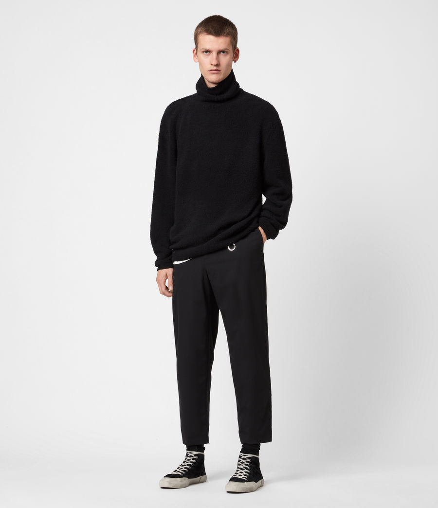 Mens Eamont Funnel Neck Sweater (black) - Image 4