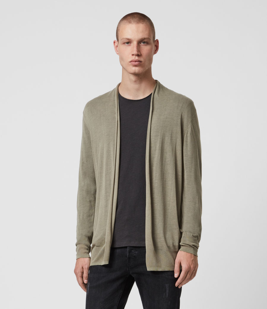 Men's Ruben Cardigan (safari_green) - Image 1