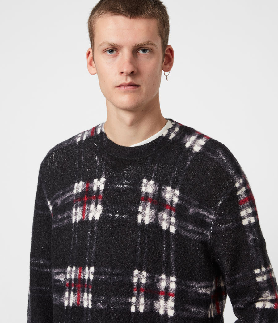 Mens Lachlan Crew Sweater (black) - Image 1