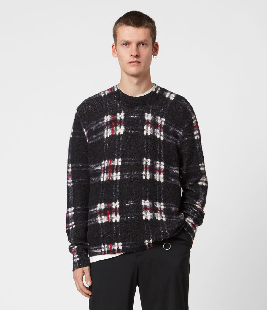 Men's Lachlan Crew Jumper (black) - Image 4