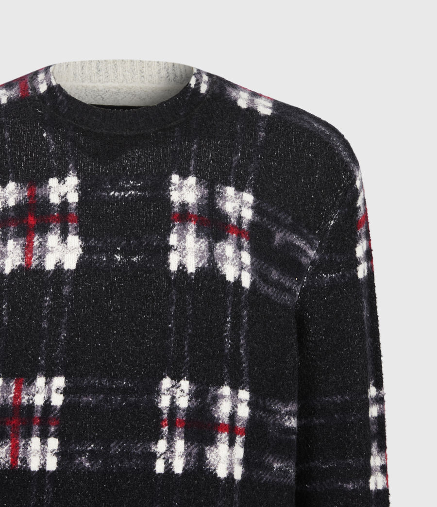 Mens Lachlan Crew Sweater (black) - Image 5
