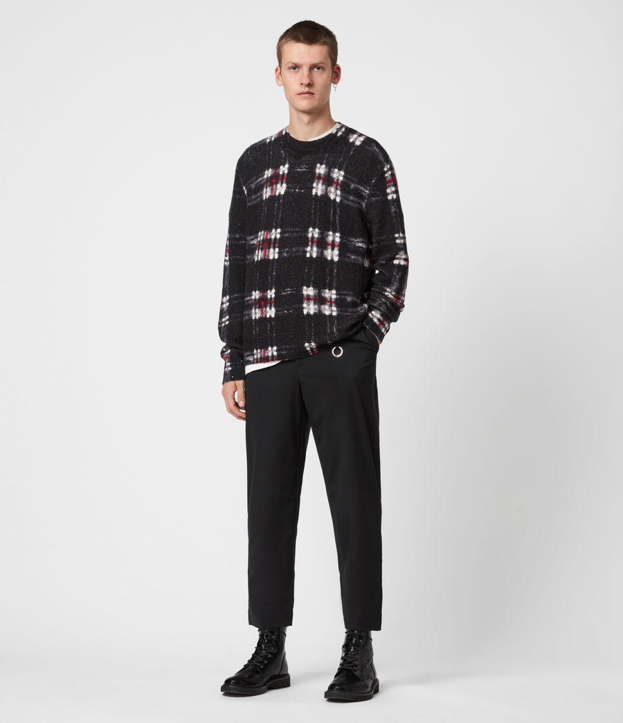 Men's Lachlan Crew Jumper (black) - Image 6